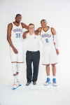 Kevin Durant, Scott Brooks, Russell Westbrook